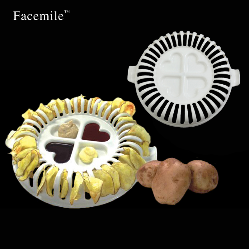 Potato Chips Baking Tray Microwave Oven Fat Potato Chips Maker Home Baking Tool Kitchen Baking Inserts Accessories Tools 52087