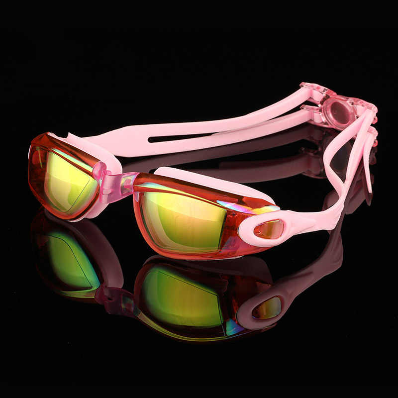 New Style Soft Silicone Anti Fog Anti-scratch Colorful Lens Swimming Diving Goggles Glasses Eye Protect Wear for Kids Boy Girl