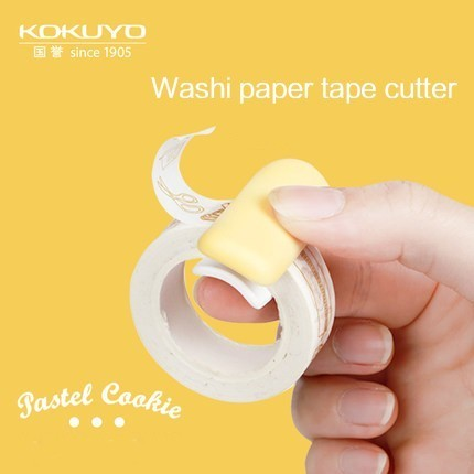 1PC KOKUYO Cute Washi Tape Cutter Tool Tape Cutter Set Storage Organizer Cutter Dispenser Office Supplies Kawaii