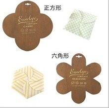 New wooden Square envelope template,Six-square envelope Manual stencil mould make envenlops,wholesale(ss-5928)
