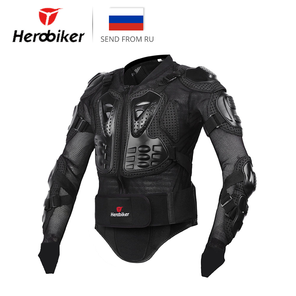 HEROBIKER motocicleta chaqueta hombres cuerpo completo armadura de la motocicleta Motocross Racing motocicleta equipo de protección tamaño S-XXXL