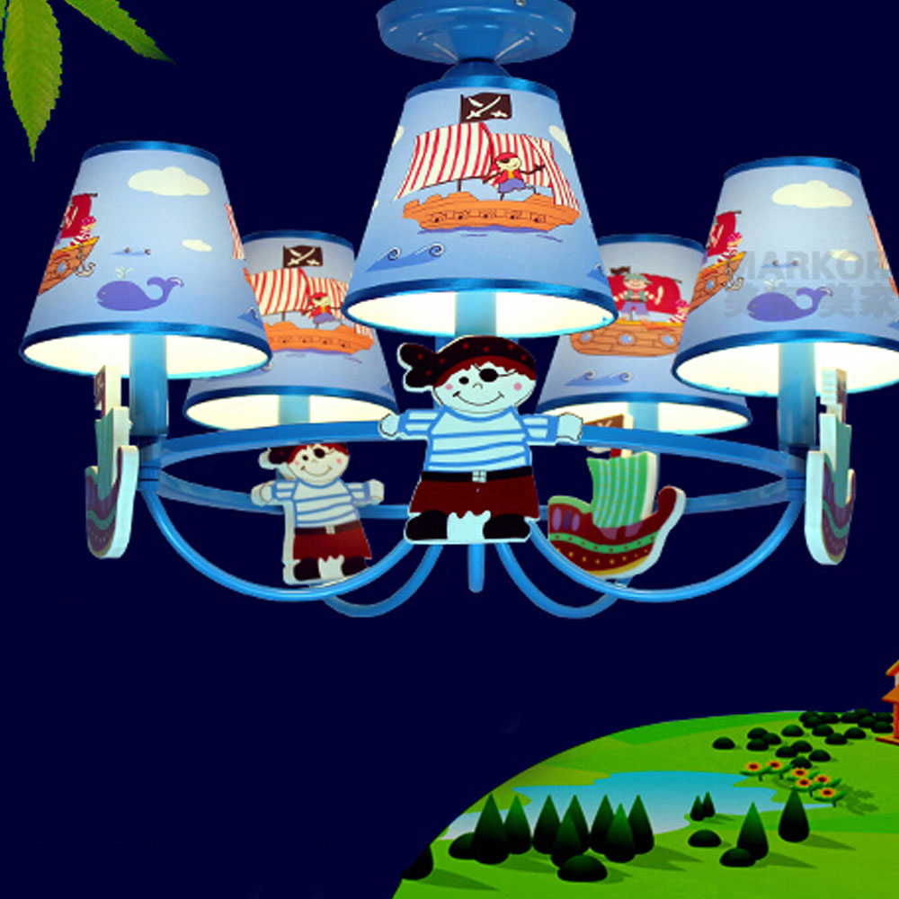 ФОТО High Quality  Kids Room Led Home Lighting E14 110V-220V Led blue Chandelier Suspension Classic Iron Chandelier Lamps