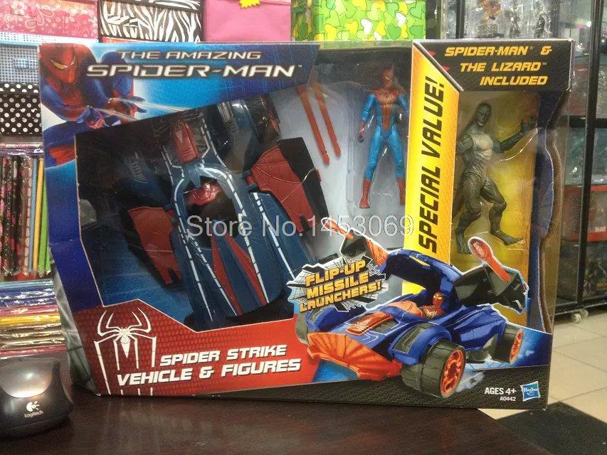 The Amazing Spider-man Spider Strike Vehicle Figures Spiderman PVC Action Figure Collectible Model Toy HRFG236 amazing spider man worldwide vol 6