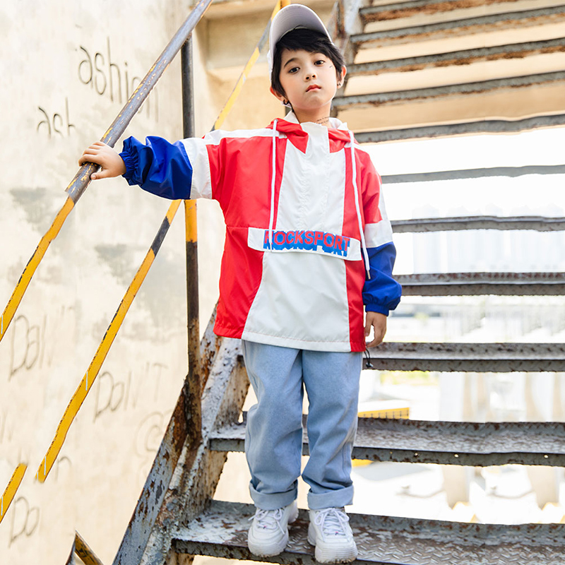 Kids Jazz Dance Costumes Boys Street Dancing Clothing Loose Top Jeans Children Stage Outfits Girls Hip Hop Set Dancewear DN2599