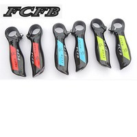 Specials! 2015 HOT FCFB FW Ultra light really ergonomic carbon fiber MTB bicycle handlebar Bar End free shipping green blue red