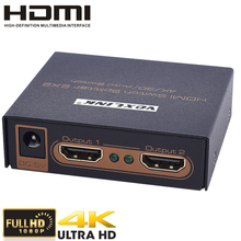 VOXLINK 2×2 HDMI Switch Splitter Full HD1080p 3D,4Kx2K 2 In 2 Out HDMI Auto Switcher Video Audio Converter With Power Adapter