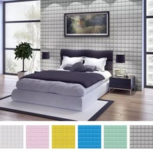 3D PE Foam Wall Stickers for Kids Room Safty Home Decor Wall Panels Self adhesive Wallpaper DIY Living Room Bedroom Wall Decals