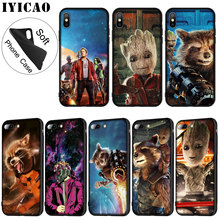 IYICAO Guardians of the for Galaxy Marvel Soft Silicone Phone Case iPhone XR X XS 11 Pro Max 6 6S 7 8 Plus 5 5S SE Cover