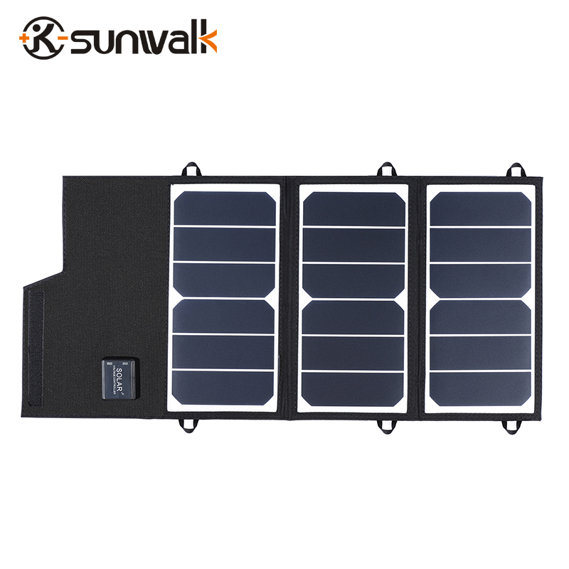 ELEGEEK 20W Dual 5V Portable Solar Panel Charger Folding 2A Foldable Solar Battery Charger for iPhone iPad Huawei ts btuc01 us plug 5v 2a bluetooth audio receiver usb charger for ipad iphone more black