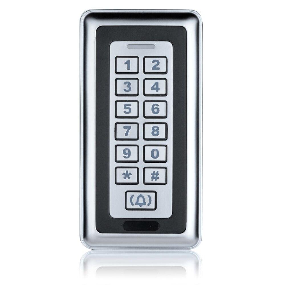 Waterproof metal access control keypad for RFID card reader coded door lock metal access control system