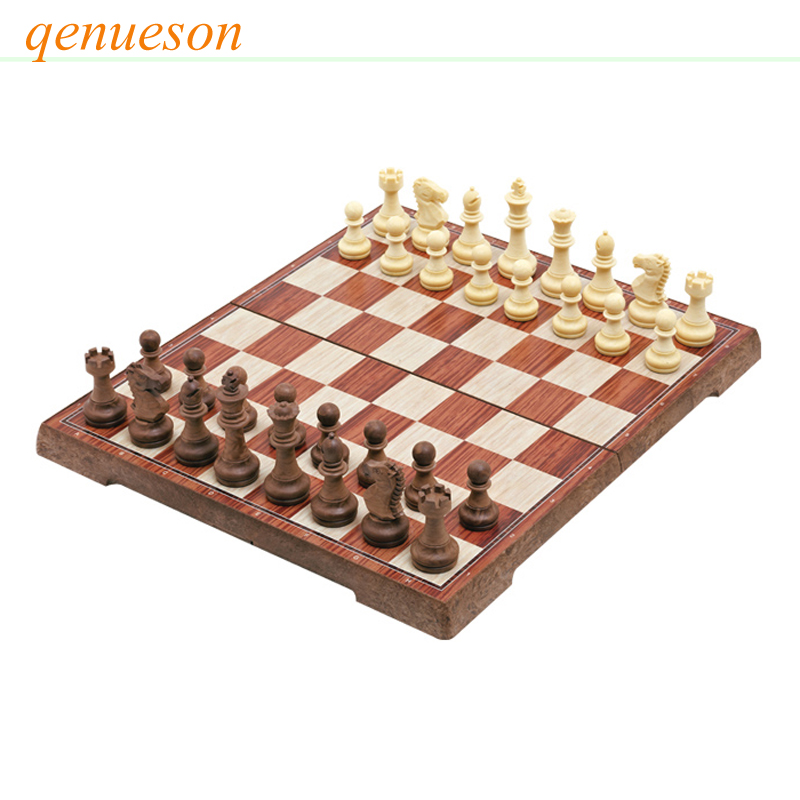 High Quality Magnetic Chess Large High-grade Imitation Mahogany Chess Wood Chess Toy WPC High Impact Plastic Material Board Game high quality magnetic chess large high grade imitation mahogany chess wood wpc chess high impact plastic materials