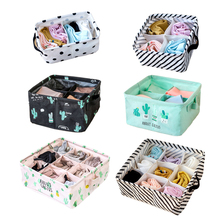 hot deal buy underwear bra organizer drawer closet organizers boxes for scarf socks storage box home storage folding cosmetics makeup boxes