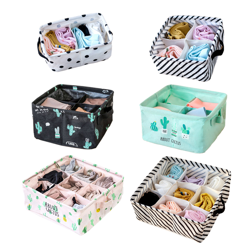 boxes:  Underwear Bra Organizer Drawer Closet Organizers Boxes For Scarf Socks Storage Box Home Storage Folding Cosmetics Makeup Boxes - Martin's & Co