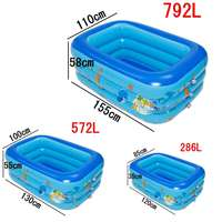 Blue Color Inflatable Baby Swimming Pool Portable Outdoor Children Basin Bathtub kids pool baby swimming pool water Summer