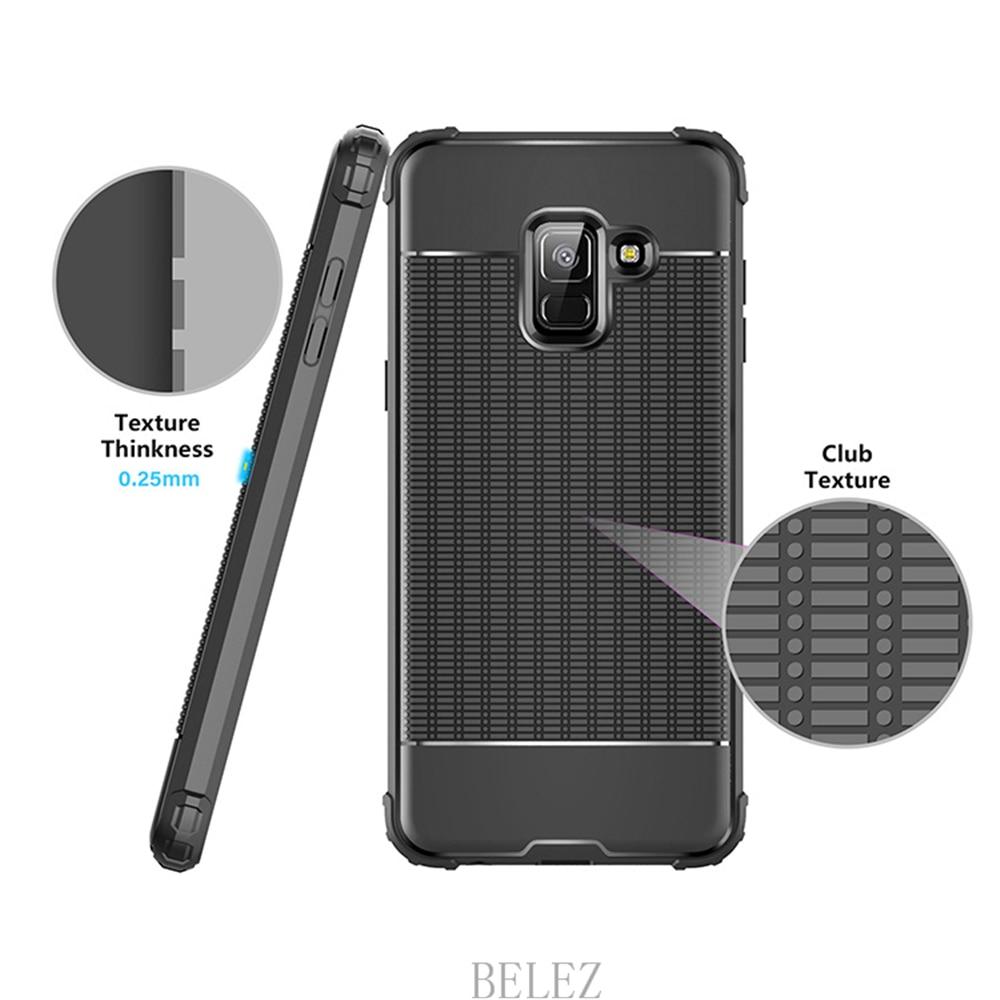 Luxury Carbon Fiber Cover for Samsung Galaxy A8 A6 A750 J4 J6 Plus A9 A6s 2018 Soft Case S7 edge S8 S9 Note 8 9 J2 J3 J5 J7 2017 10