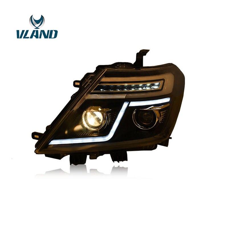 VLAND Factory pour phare de voiture pour Y62 LED phare de patrouille avec xénon 2008 2010 2012 2016 + LED ou xénon H7