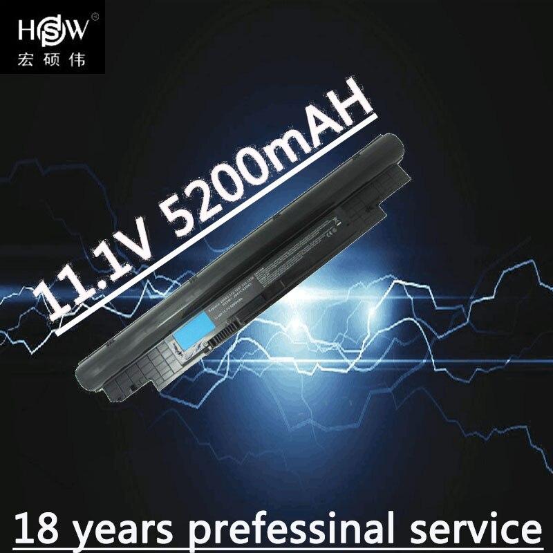 HSW 11.1V 5200MAH Laptop Battery For DELL Vostro V131 V131R V131D Inspiron 13Z N311z 14Z N411z H2XW1 H7XW1 268X5  Bateria