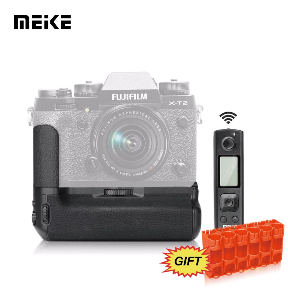 MEKE Meike MK-XT2 Pro Multi-Power Battery Grip Pack With Wireless Remote Control For Fujifilm X-T2+GIFT цена