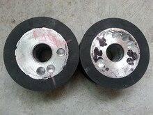 300*100*32mm 12''x4''x1.25'' Grooved Rubber Wheel Belt Sander Polisher Wheel for Sanding Belt 100 100mm grooved rubber wheel belt grinder part