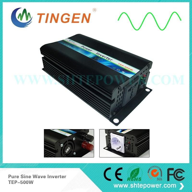 TEP 500W Off grid tie system DC 24V input converter to AC output pure sine wave 110V 120V 220V 230V 500W inverter power