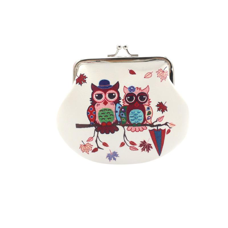 Vintage Women Coin Purse Small Owl Hasp Wallet Change Pouch Clutch Card Holder Brown Dropshipping Wholesale ND
