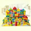 2017 Wooden Juguetes Avengers Building Blocks 100 Pieces Of Big City Baby Children Early Lessons Child 1-2-3-6 Years Of Age