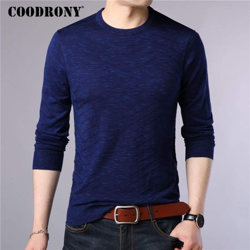 COODRONY Brand Sweater Men Autumn Winter Cashmere Wool Sweaters Streetwear Fashion O-Neck Pullover Men Knitwear Pull Homme 91068