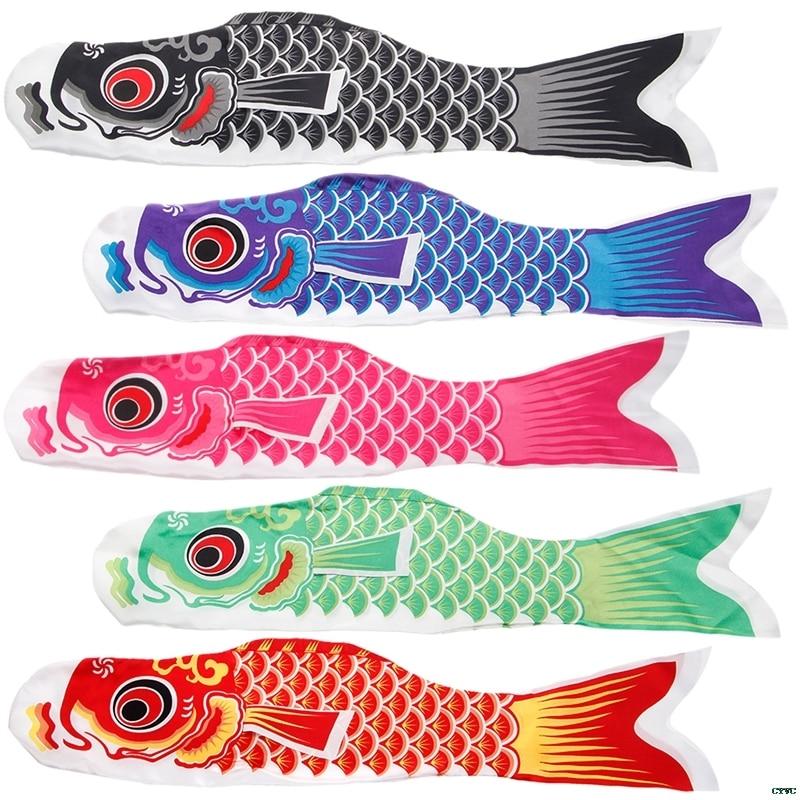 70cm Koi Nobori Carp Wind Socks Koinobori Colorful Fish Flag Hanging Wall Decor