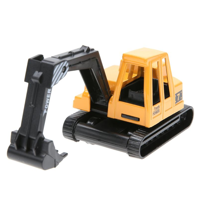 Image 5 - Mini Engineering Vehicles Pull Back Toy Excavator Forklift Burrow Truck Dump Truck Crane Charging Crane Road Roller Kids Toys-in Diecasts & Toy Vehicles from Toys & Hobbies