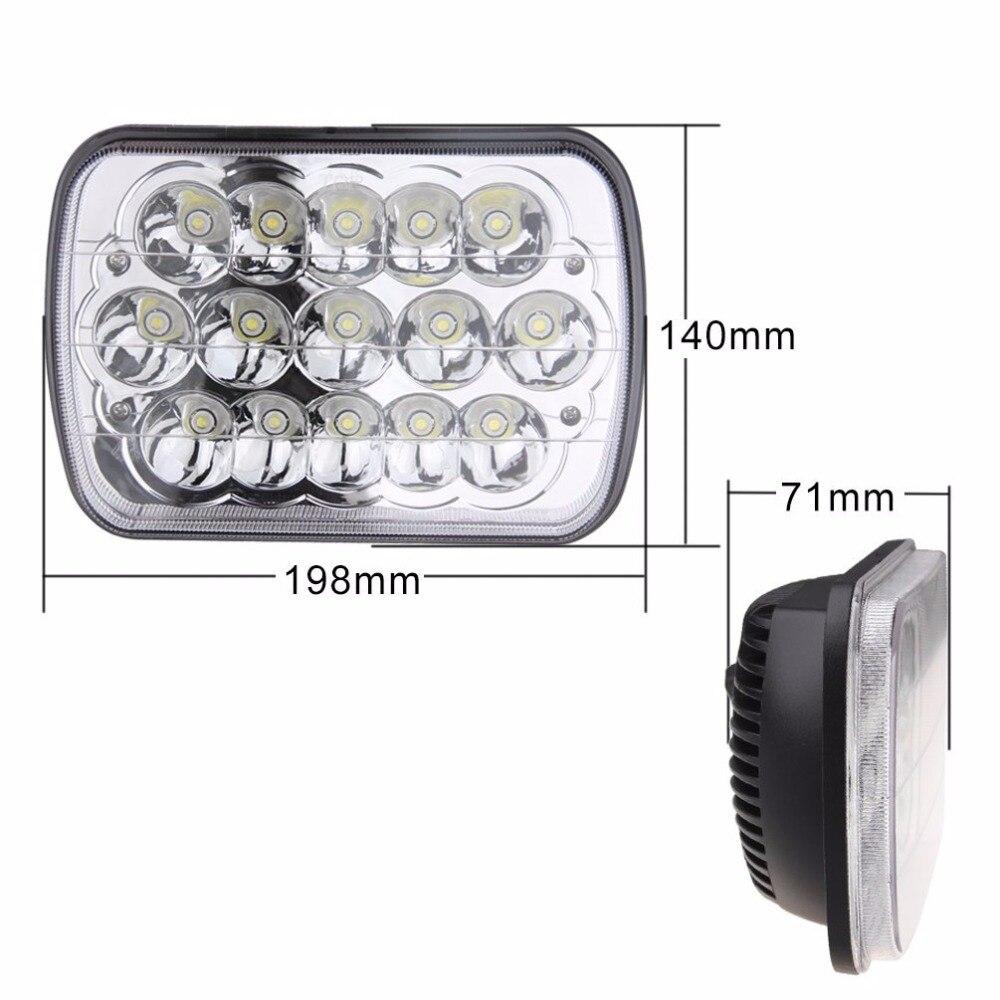 ФОТО 6x7 inch 45W LED Crystal Clear Je ep Cherokee XJ Headlamp Headlight Pair 6054 (Free Shipping)