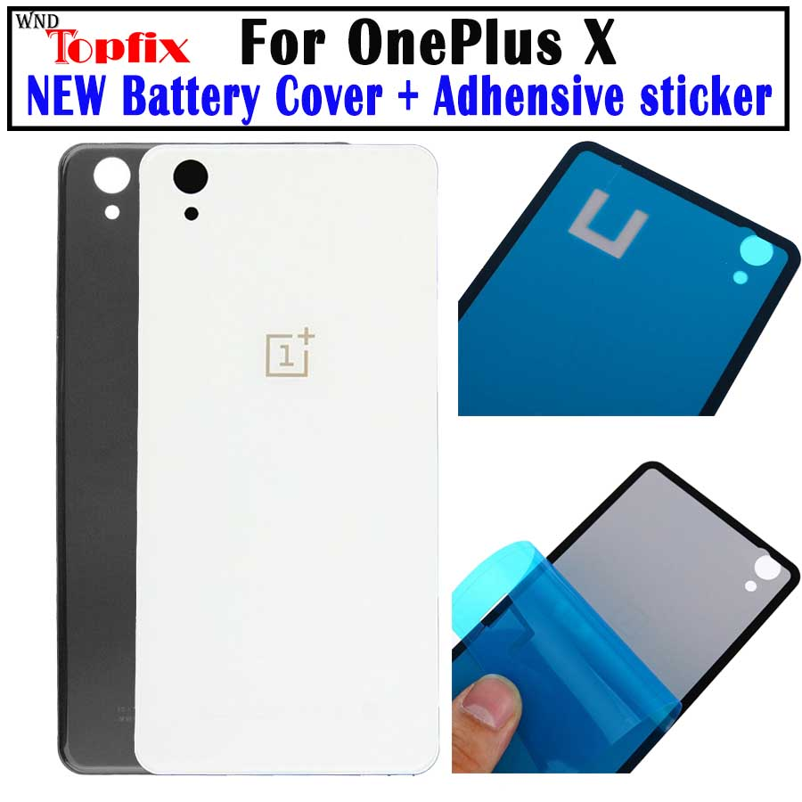 NEW original For Oneplus X Case Back Glass Rear Door Housing Replacement for Oneplus X Battery Cover With STICKER Adhesive
