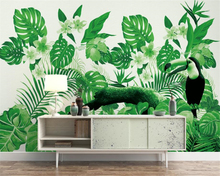 beibehang Custom silk cloth 3d wallpaper mural tropical plant parrot background wall wallpaper for walls 3 d papel de parede 3d beibehang papel de parede 3d gold foil wallpaper for walls 3d ktv restaurant classical chinese decoration wall paper papel mural