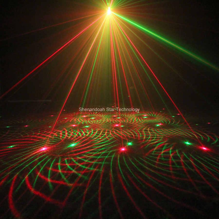 Eshiny Mini 4in1 4 Pola Angin Puyuh R & G Laser Lighting Panggung Disco Dj Club Ktv Xmas Bar Keluarga partai Cahaya Acara P17