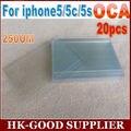 20 unids Para iphone5 5S pegamento Óptico OCA adhesivo 250um freeshipping Correo Aéreo Registrado Del Poste de China/ePacket
