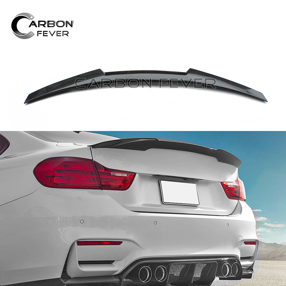 F32 Carbon Fiber Spoiler Wing For BMW F32 4 Series 2-door Coupe 2014 - Present p style for bmw f32 spoiler carbon fiber material 4 series coupe f32 carbon spoiler 2 door carbon wings 2014 2015 2016 up