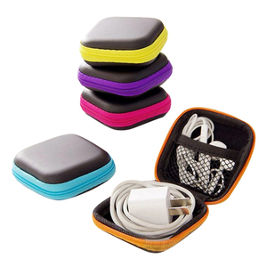 Image 1 - אוזניות חוט ארגונית תיבת נתונים קו כבלי תיבת אחסון מקרה מיכל מטבע אוזניות מגן תיבת מקרה מיכל