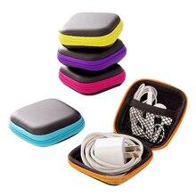 Przewód słuchawkowy organizator Box linia danych kable schowek Case pojemnik moneta słuchawki pudełko ochronne Case Container