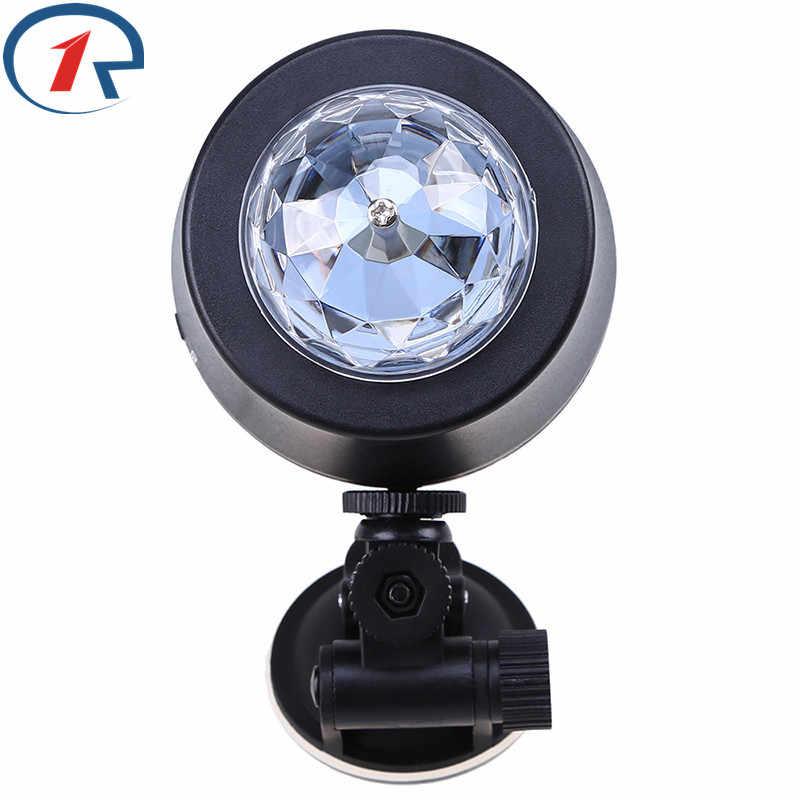 ZjRight High Quality Interior Music Disco DJ Led Stage Light USB LED RGB Ball Lamp disco ktv Car Indoor Decration holiday Light