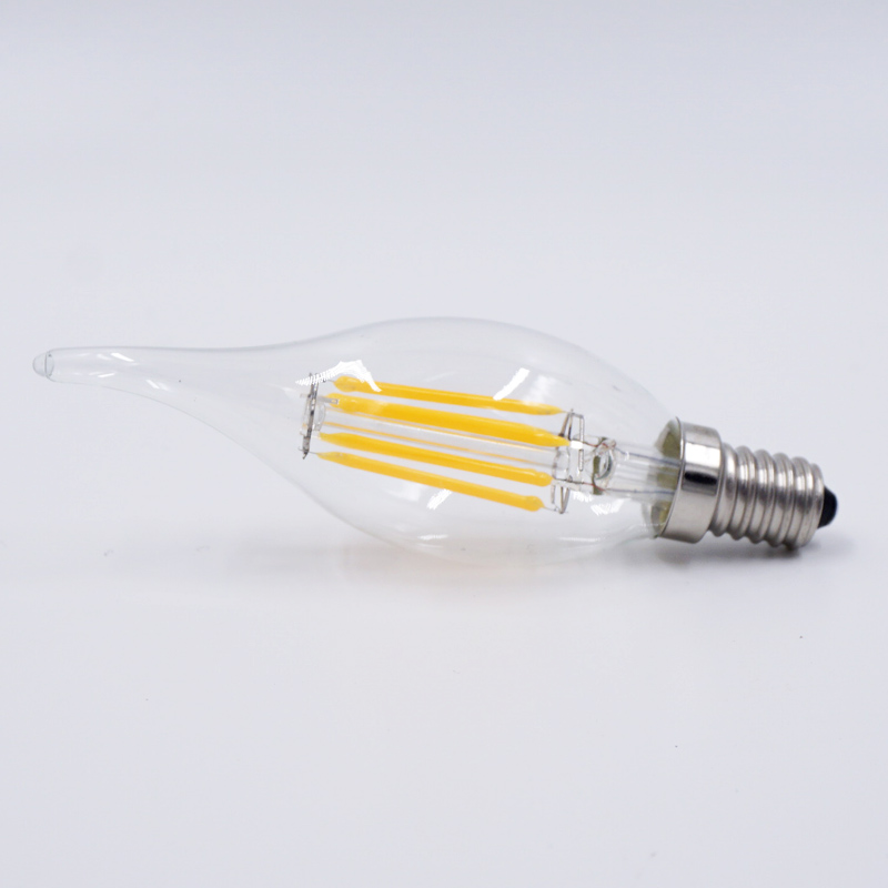 LED Filament Candle Light Bulb E14 220V-240V 2W 4W 6W C35 Edison Bulb Retro Antique Vintage Style Cold White Warm White Lamp