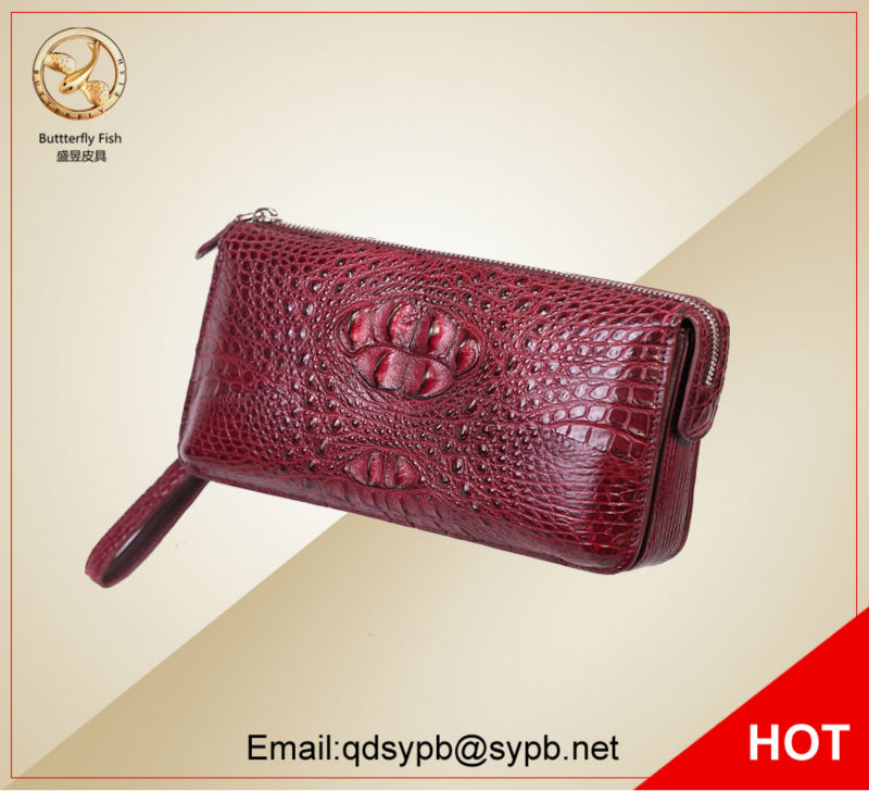 все цены на  Butterfly Fish 2017 Genuine Leather Women Wallets Crocodile Trending Purse Wallet Alligator Pattern Long Wallet For Women