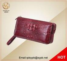 Butterfly Fish 2017 Genuine Leather Women Wallets Crocodile Trending Purse Wallet Alligator Pattern Long Wallet For Women