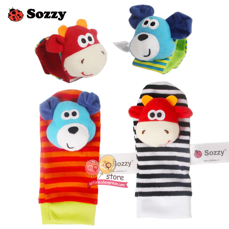 Sozzy-4pcs-Zebra-Baby-bebe-Infant-Wrist-and-Socks-Rattle-Bell-Foot-Finders-Set-Educational-Soft-Christmas-Gift-Toys-for-Children-1