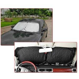Image 2 - UV להגן על רכב שמשה קדמית כיסוי 150X70cm קדמי אחורי חלון סרט שמשה קדמית Visor כיסוי רכב שמשיה רכב סטיילינג באיכות גבוהה
