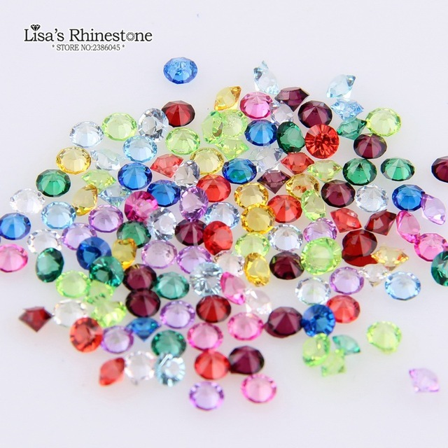Mini Pixie mélange de 1440 pièces   Strass pointus en résine de couleurs pour bricolage, accessoires de décoration pour Nail Art, bijoux