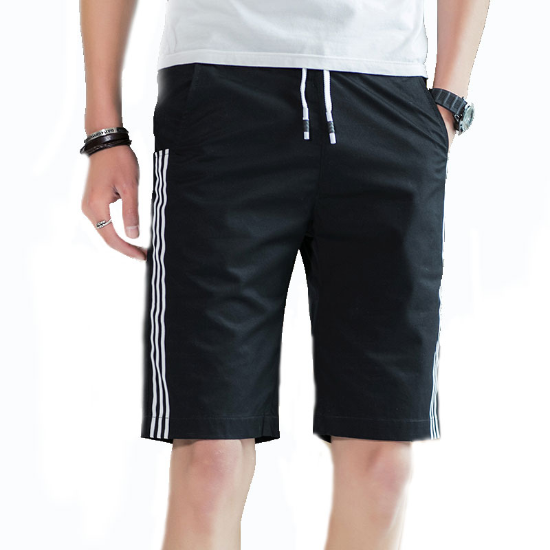 Stripe Mens Shorts Fashion Mens Shorts Casual High Quality Black Gray Orange Green Khaki Blue M-4XL Stripe Mens Shorts ...