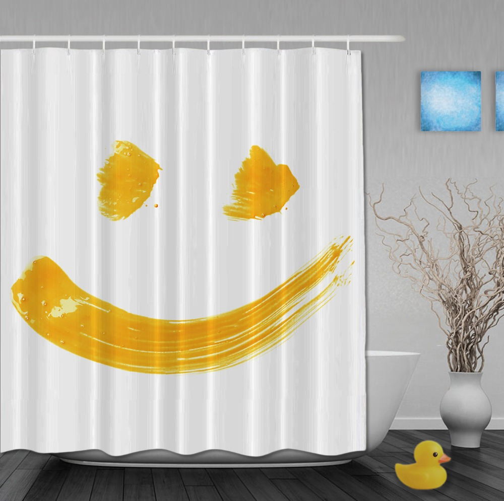 Funny smell face designer shower curtains waterproof fabric bathroom curtain with hooks custom shower curtain for home decor
