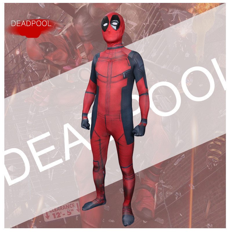 Adult Deadpool Cosplay Costume Mens super Hero Deadpool Bodysuit Wade Winston Wilson Jumpsuit Spandex Zentai Suit