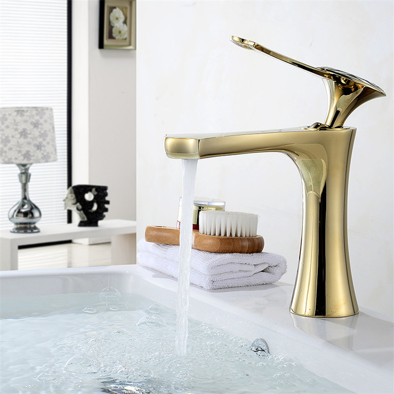 Bathroom Basin Faucet Golden Brass Sink Mixer Tap Hot and Cold Basin Faucet Crystal head Deck Lavatory Tap Water Crane Torneira Bathroom Basin Faucet Golden Brass Sink Mixer Tap Hot and Cold Basin Faucet Crystal head Deck Lavatory Tap Water Crane Torneira