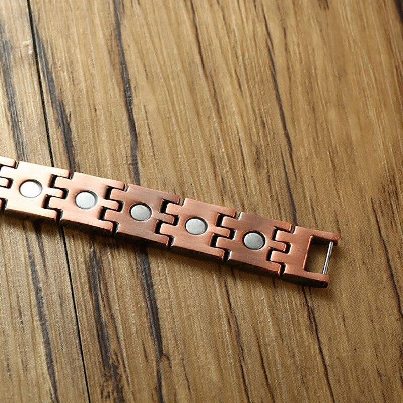 медный браслет с магнитами
