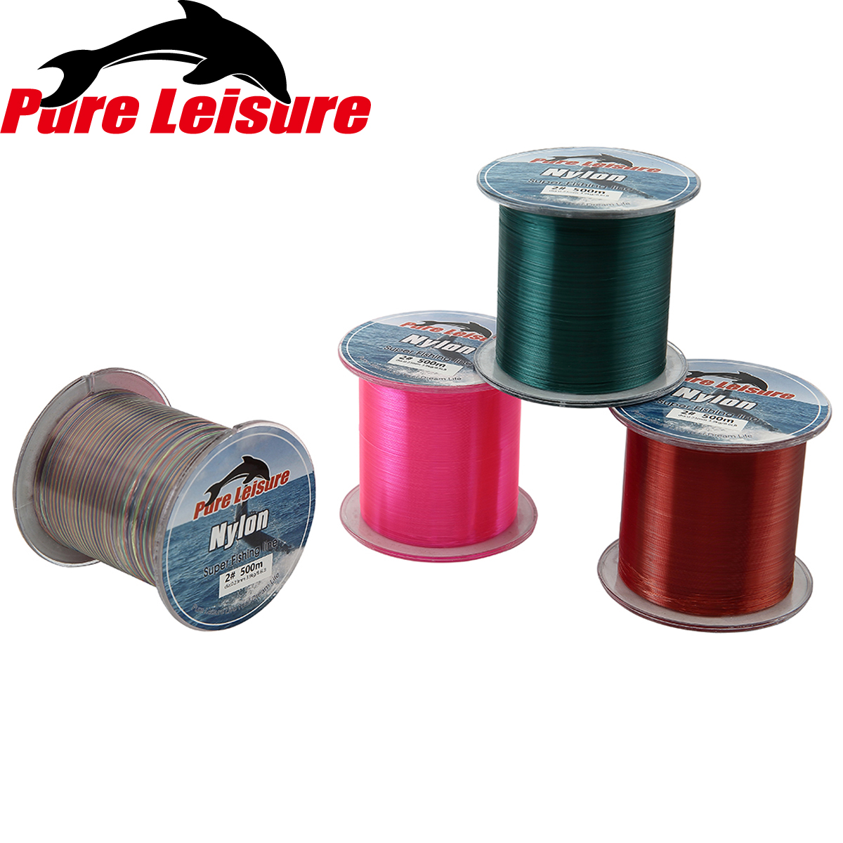 PureLeisure 500m Nylon Fishing Line 500m Filo Trecciato Pesca 4.4-28.6LB lenza pesca nylon 500m Nylon Peche for Carp Fishing